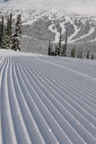Groomed Ski Run Royalty Free Stock Images