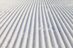 Groomed ski slope Stock Photography