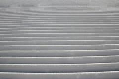 Groomed ski track. A closeup of a freshly groomed ski track Stock Photography