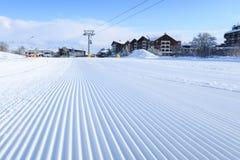 Free Groomed Snow At Bansko Ski Slope, Bulgaria Royalty Free Stock Photo - 136251875