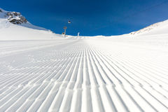 Groomed snow Royalty Free Stock Photography
