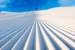 Groomed snow Stock Photography