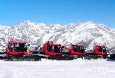 Groomers χιονιού Στοκ φωτογραφία με δικαίωμα ελεύθερης χρήσης