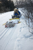 Grooming Cross Country Ski or Skiing Trail Royalty Free Stock Photo