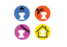 Grooming pet icon  Royalty Free Stock Photo