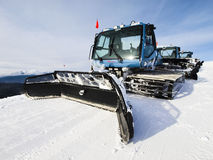 Grooming Tractor. Snowplow at the top of Vail ski resort, Colorado royalty free stock image