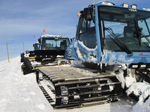 Grooming Tractor. Snowplow at the top of Vail ski resort, Colorado stock photography