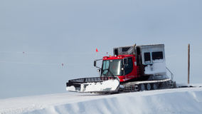Grooming Tractor. Snowplow at the top of Vail ski resort, Colorado royalty free stock photos