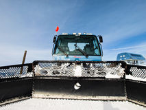 Grooming Tractor. Snowplow at the top of Vail ski resort, Colorado stock images