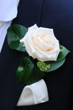 Grooms Buttonhole flower. Stock Photos