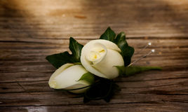 Grooms buttonhole flower Royalty Free Stock Photo