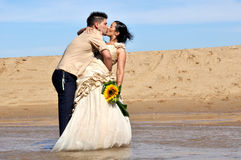Grooms couple kissing Royalty Free Stock Images