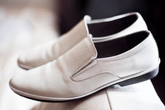 Grooms shoes Stock Images