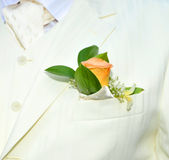 Grooms suit Stock Photo
