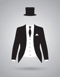 Grooms suit jacket outfit Stock Image