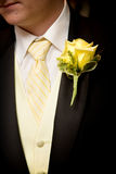 Grooms wedding flower royalty free stock images