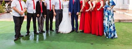 Groomsman and bridesmaid. Wedding couple , groomsman and bridesmaid, wedding day stock image