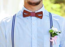 Groomsman on a wedding. Day royalty free stock photos