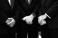 Groomsmen. Detail shot of groomsmen at wedding Stock Photography