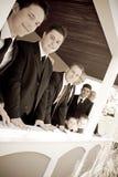 groomsmen bawją się ślub Fotografia Stock