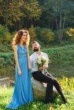 Groomsmen и bridesmaid Стоковые Изображения