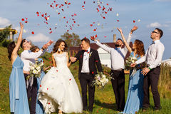 Groomsmen and bridesmaids Royalty Free Stock Photos