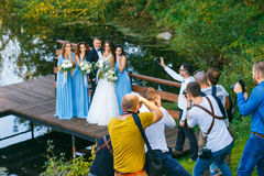 Groomsmen and bridesmaids Stock Images