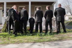 groomsmen divertenti Fotografia Stock
