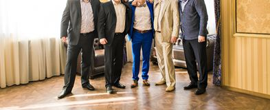 Groomsmen and groom Royalty Free Stock Photos