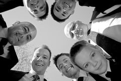 Groomsmen Huddle Stock Photo