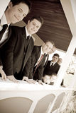 Groomsmen van de Partij van het huwelijk Stock Fotografie