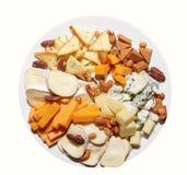 Groot aantal snacks op banketlijst stock foto's