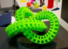 Groot abstract die voorwerp door 3d printerclose-up wordt gedrukt Royalty-vrije Stock Afbeelding