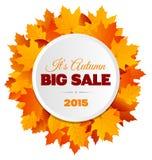Groot Autumn Sale Flyer Design Stock Afbeelding