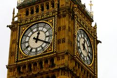 Groot Ben Clock Face Close Up Royalty-vrije Stock Afbeeldingen