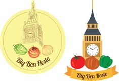 Groot Ben Icon, Logogram en Logo Type Vector Art Illustration Stock Foto