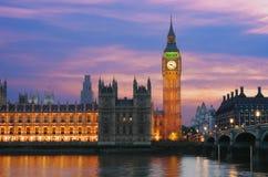 Groot Ben In London At Twilight stock afbeelding