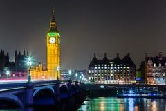 Groot Ben Parliament bij Nacht Royalty-vrije Stock Afbeelding