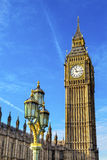 Groot Ben Tower Houses Parliament Westminster Londen Engeland Royalty-vrije Stock Foto's