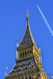 Groot Ben Tower Houses van het Parlement Londen Engeland van Westminster Stock Afbeeldingen