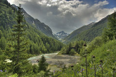 Groot bergpanorama - Italië Stock Fotografie