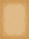 Groot bevlekt oud document met ornamentframe Royalty-vrije Stock Afbeelding
