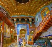 Groot binnenland van Manial-Paleis, Kaïro, Egypte stock foto's