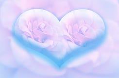 Groot blauw hart Royalty-vrije Stock Afbeeldingen