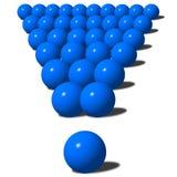 Groot blauw uitroepteken Stock Afbeeldingen
