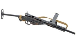 Groot-Brittannië bij het WW2 Brits machinepistool Sten Stock Afbeeldingen
