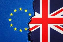 Groot-Brittannië en de EU, Brexit-concept 3d Royalty-vrije Stock Fotografie