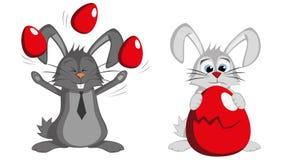 Groot Bunny Collection - Grappige mannelijke Pasen-konijnen Royalty-vrije Stock Afbeeldingen