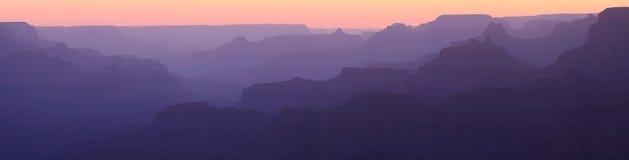 Groot Canion Gesilhouetteerd Panorama royalty-vrije stock foto