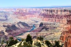 Groot canion nationaal park met de rivier van Colorado stock fotografie